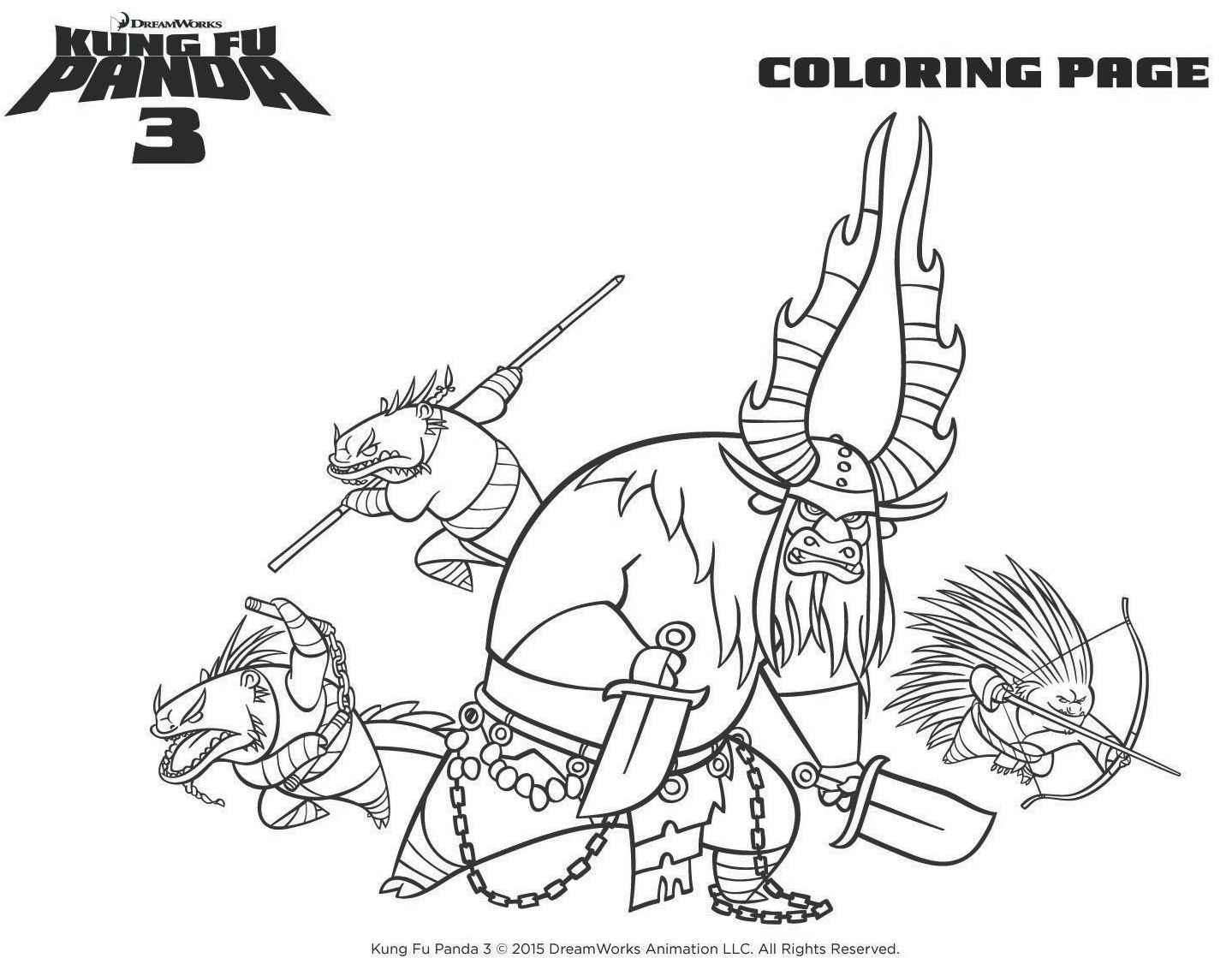 Printable coloring pages kung fu panda - Kung Fu Panda Coloring Page