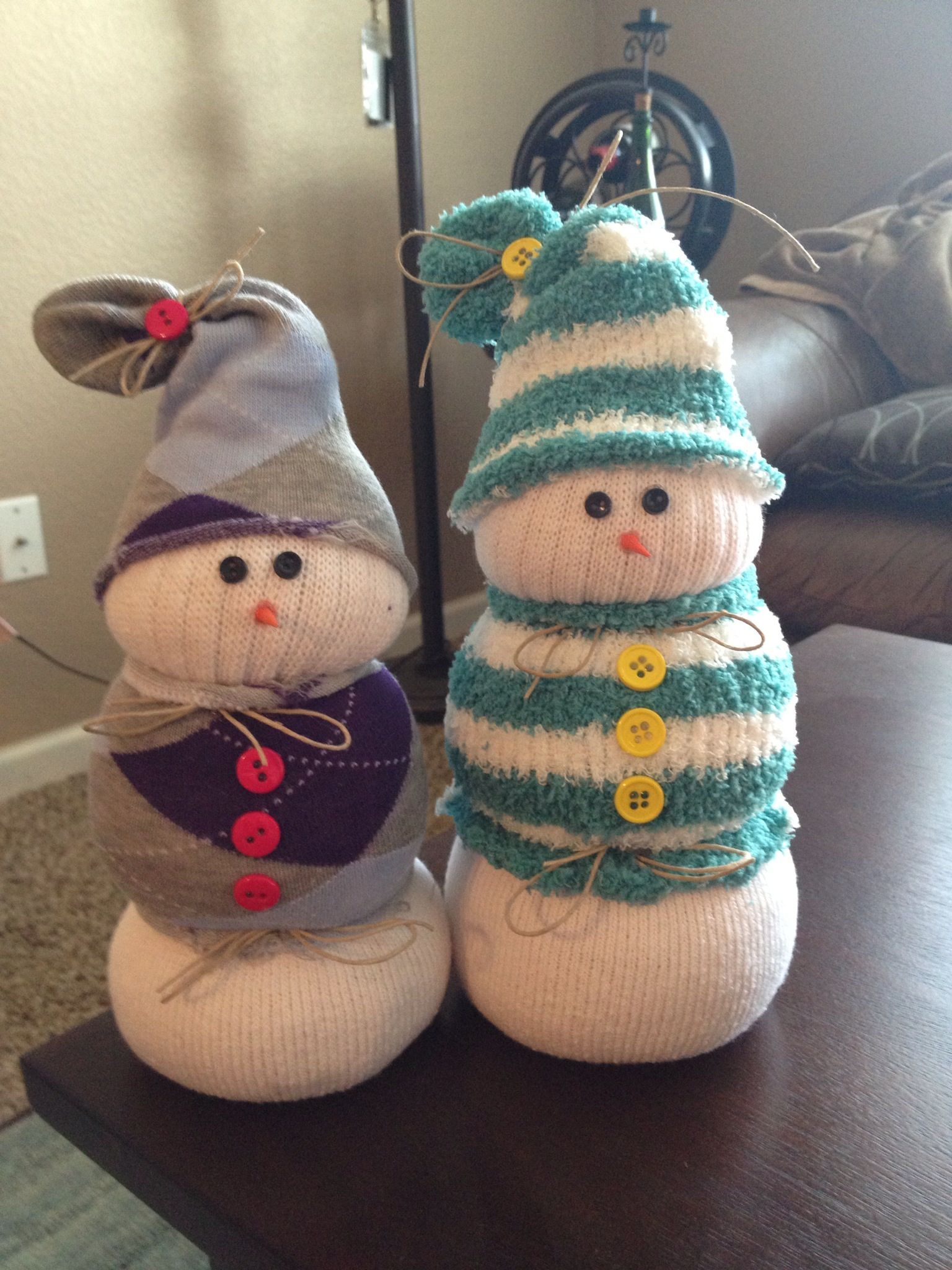 Easy Snowman Snack: Easy Snowmen From Socks And Rice. Very Easy To Make. Use