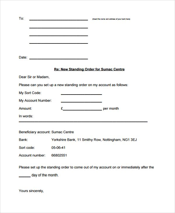 Sample Order Letter Documents Pdf Word Cancellation Samples