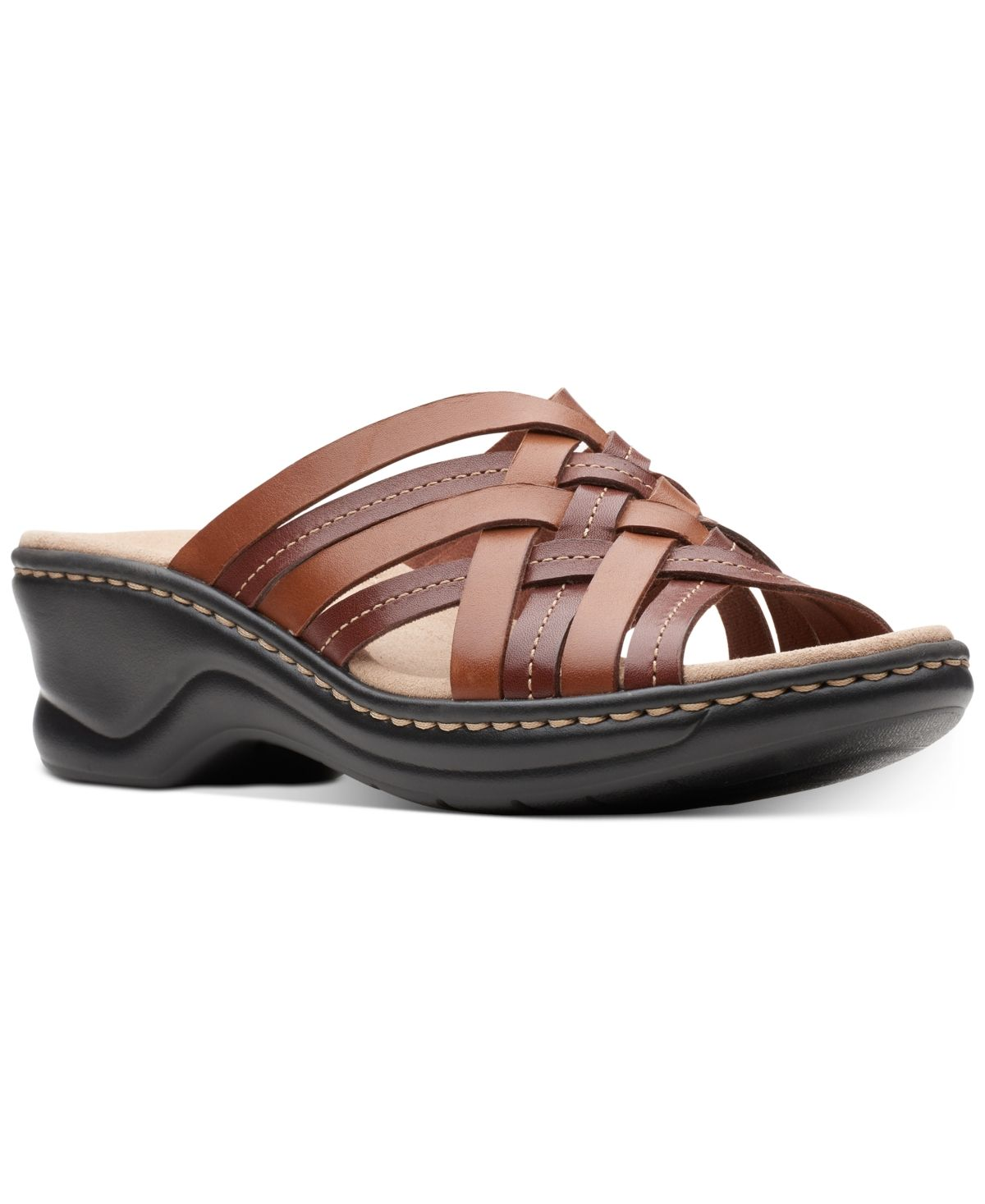 Clarks Collection Women's Lexi Selina Flat Sandals Pewter