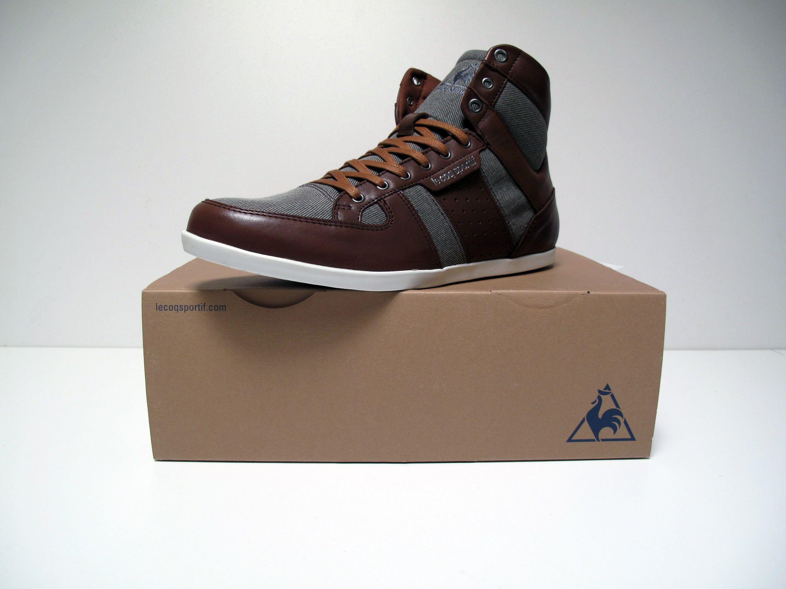 Le Coq Sportif Bizot Hi Twill Lea pour homme est maintenant disponible sur code-shoes-store.com #LeCoqSportif #Sneakers #Shoes #chaussures #Homme