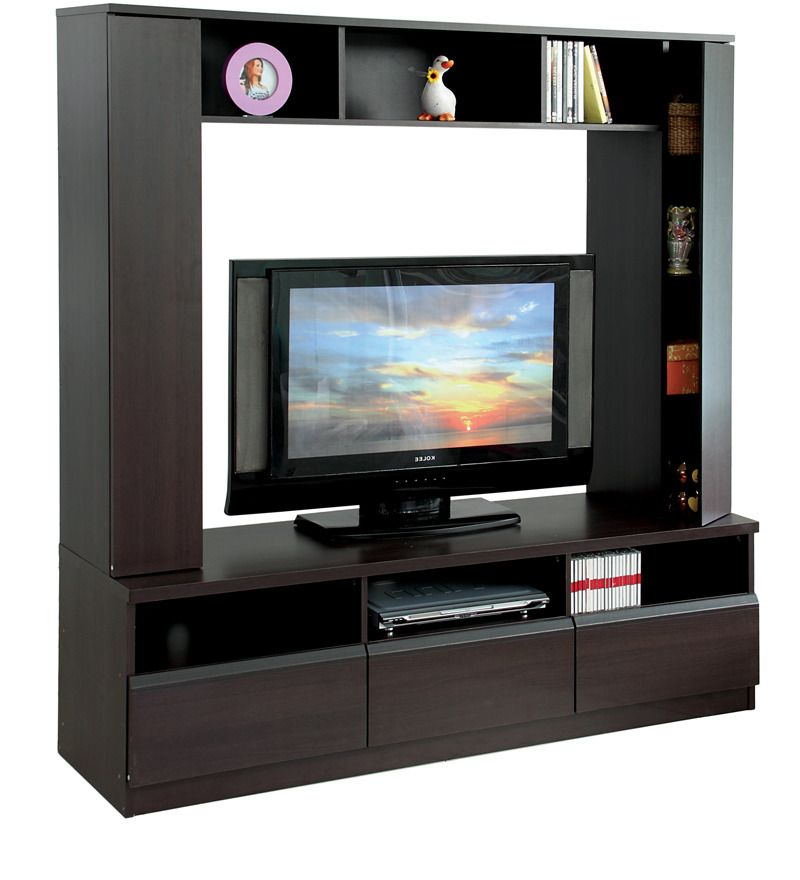 Buy Eikichi Entertainment Wall Unit in Chocolate Beech Finish by ...