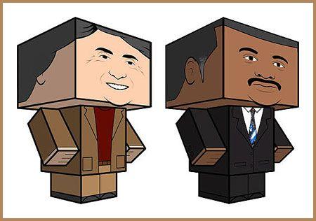 Paperkraft.net - Free Papercraft, Paper Model, & Papertoy: Neil deGrasse Tyson & Carl Sagan Papercrafts