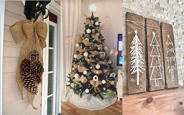 Photo of 12 ideas de decoración rústica para Navidad ¡Súper bonitas!