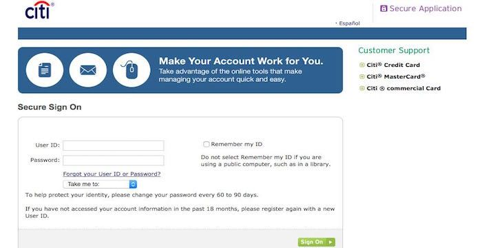 Citicards Online Login >> Citicards Account login | Websites | Accounting, Login ...