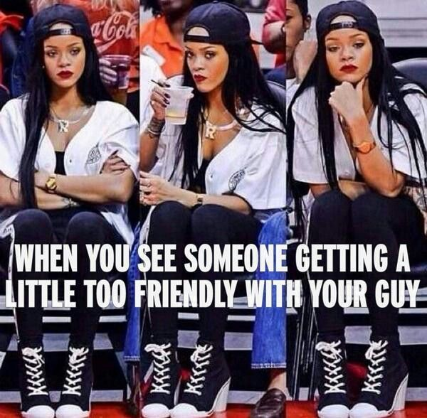 Funny Meme To Send Girlfriend : Rihanna memes boyfriend … pinteres…