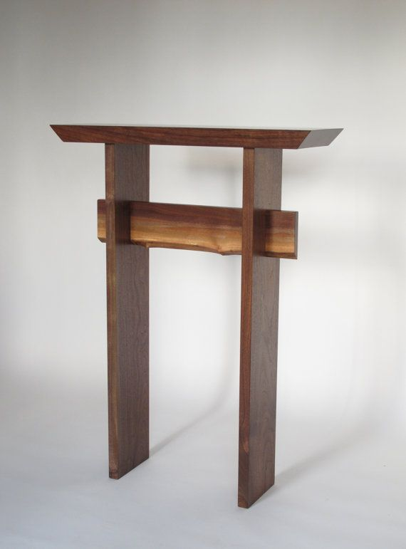 Live Edge Walnut Entry Table Tall Hall Table Narrow Console