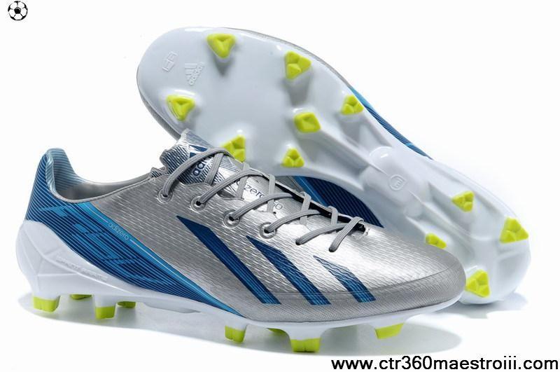 online retailer 8a8bb d30c3 Buy Discount Silver Black Blue Adidas Adizero F50 FG Soccer Boots Shop