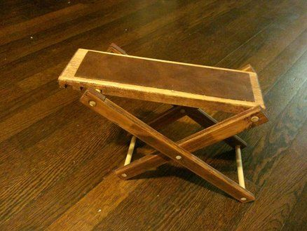 Classical Guitarist S Footstool Footrest Footstool Stained Plywood Floors Custom Woodworking