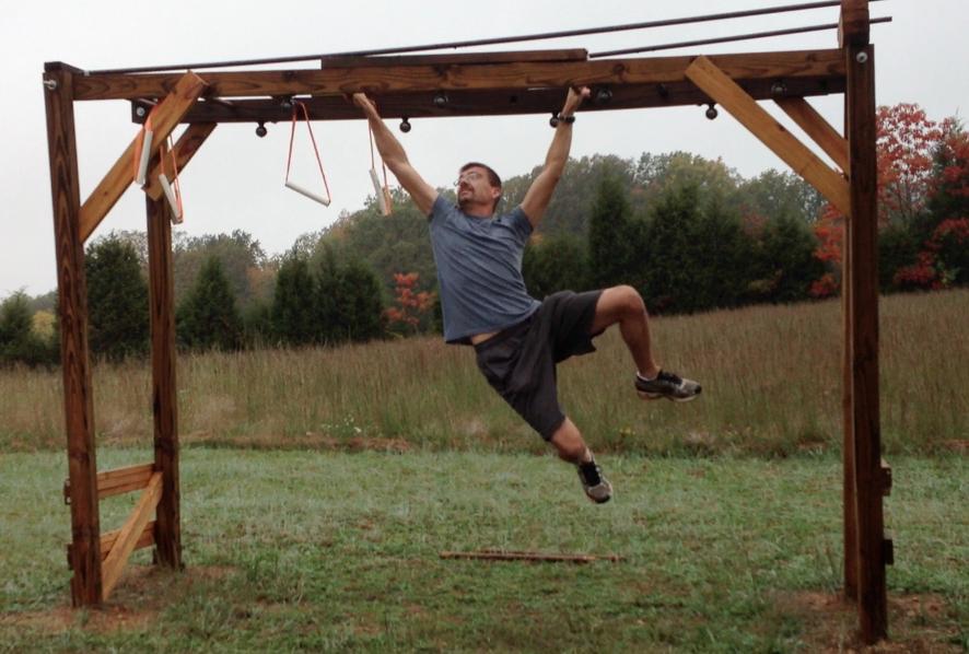 Monkey bars ninja backyard workout pinterest
