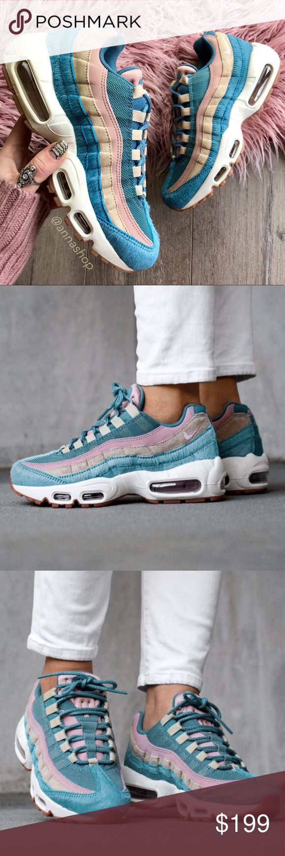 check out 692a1 a9e75 NWT Nike Air Max 95 Rare Embossed fur Brand new with box no lid.super