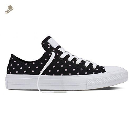 8023f6dd5ca7a7 Black · Converse Womens Chuck II Shield Low Top Black Synthetic Trainers ...