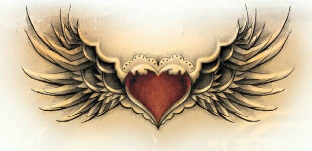 Heart With Wings Tattoo Idea Heart With Wings Tattoo Heart Tattoo Heart Tattoo Designs