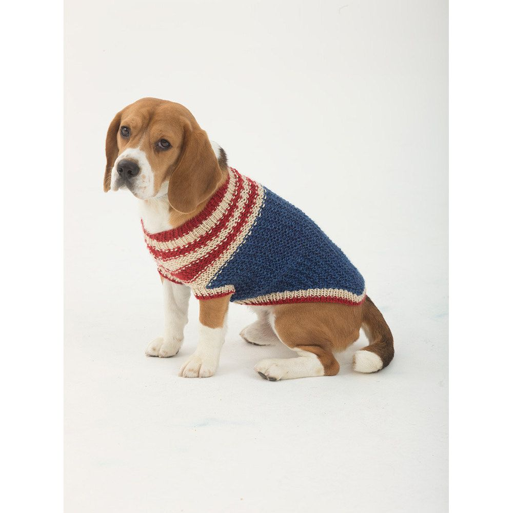 The Patriot Dog Sweater In Lion Brand Heartland L32376 Free Dog