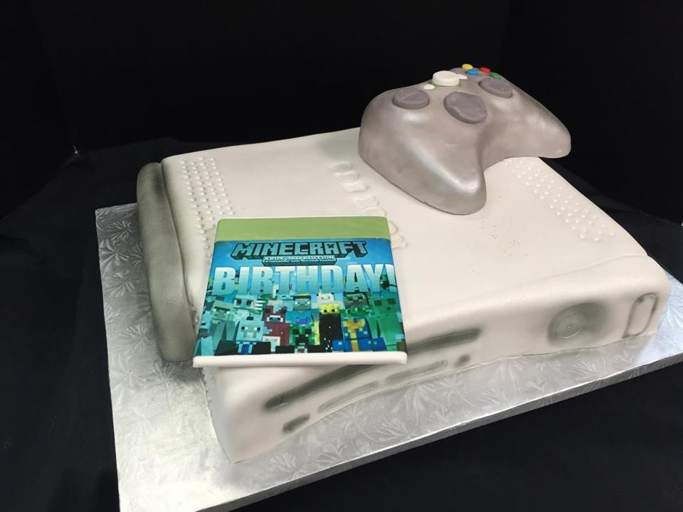 Groom Cake/Birthday Cake shaped as an X-Box with Minecraft ...