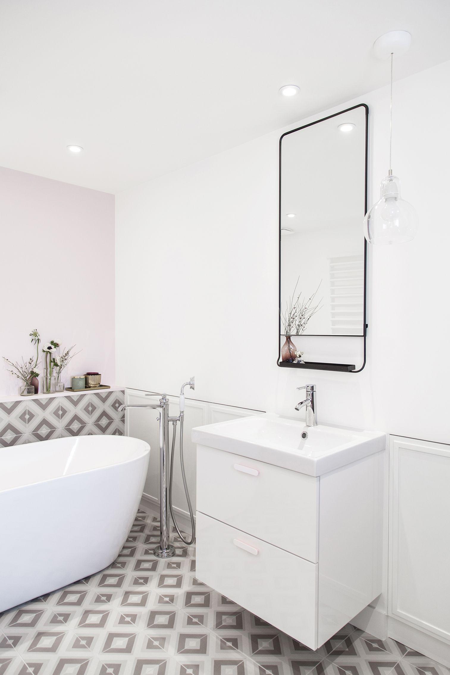 Salle De Bain Rose Poudre ~ salle de bain rose et blanc meuble de salle de bain et ides de