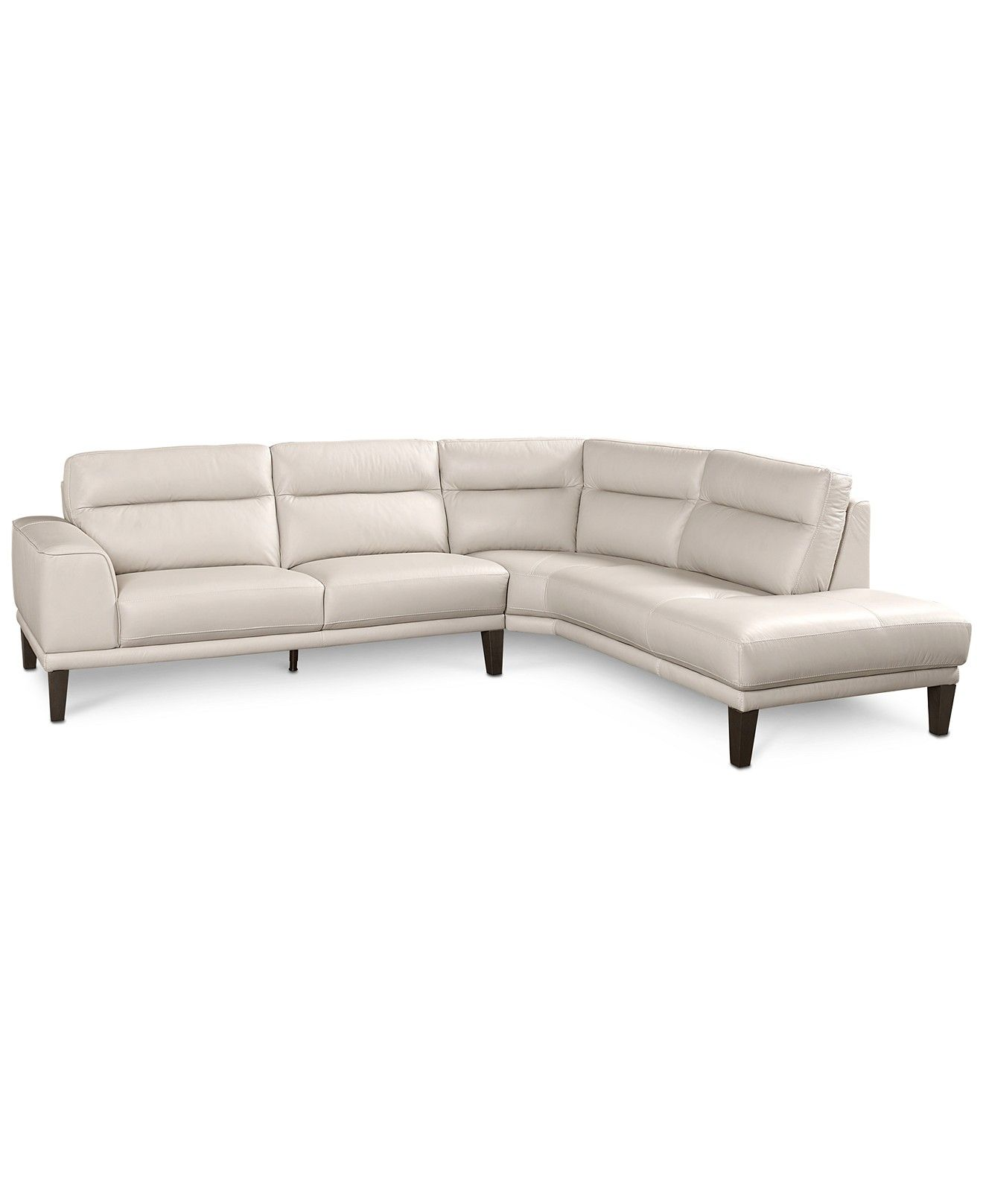 Dayle Leather 2 Pc Sectional Sofa
