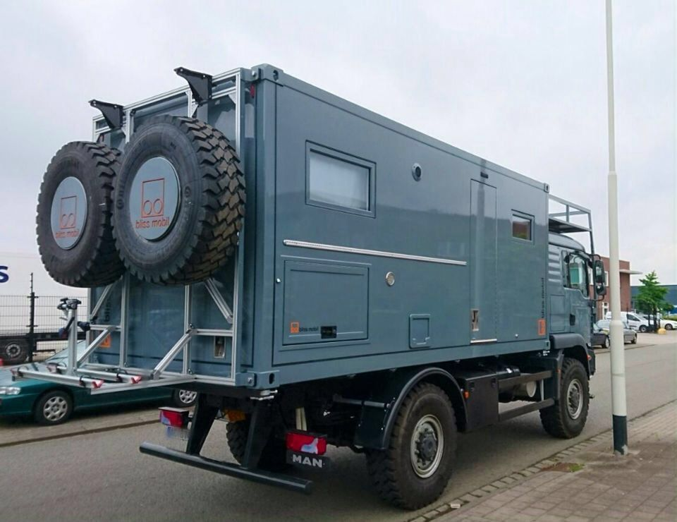 18ft Rear Living Module On A Man Truck Expedition Vehicle