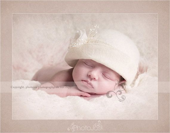Newborn cloche hat lady mary cloche hat baby cloche hat newborn vintage style cloche hat felt cloche newborn photography prop uk seller