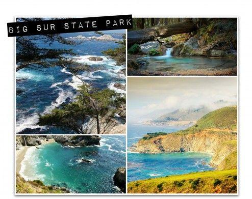Big Sur State Park - photo collage