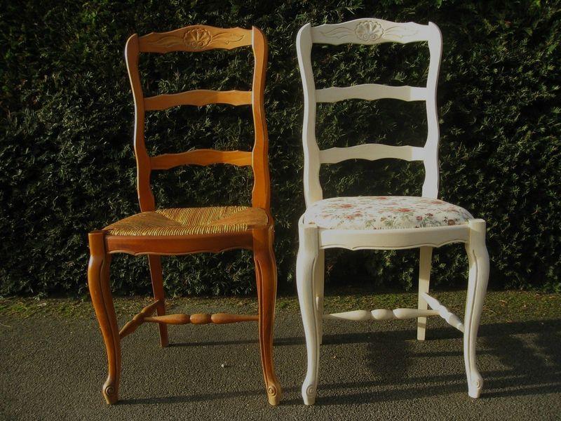 une chaise shabby et de une a l 39 heure des r ves customiser et relooker ses meubles. Black Bedroom Furniture Sets. Home Design Ideas