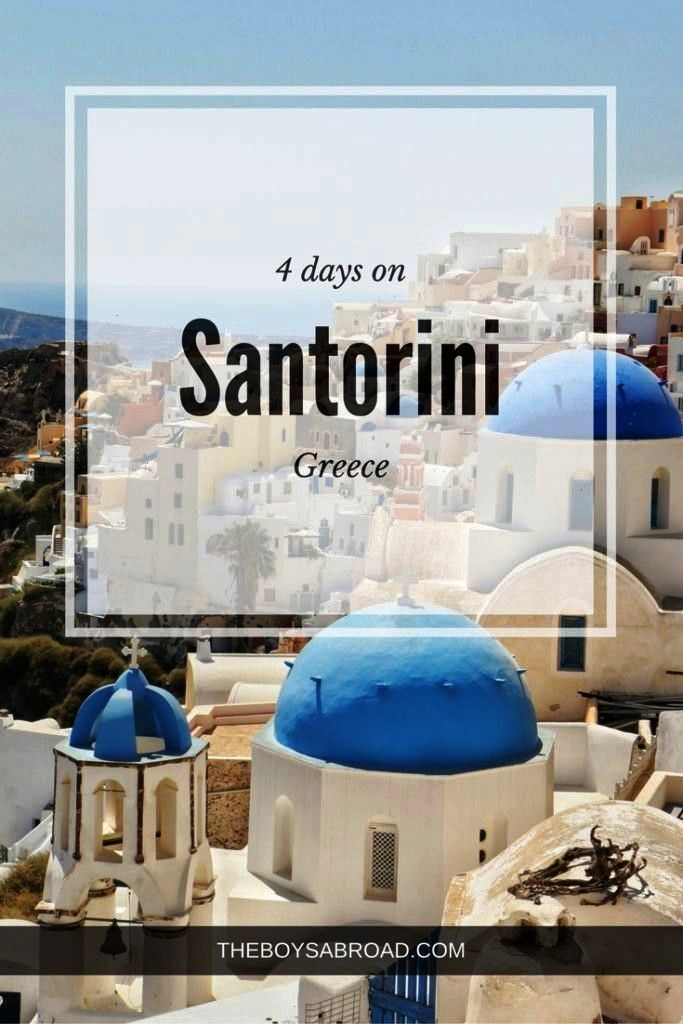 Jumping and Sunsets: 4 Days on Santorini - The Boys Abroad Four day itinerary for for Santorini, Gr