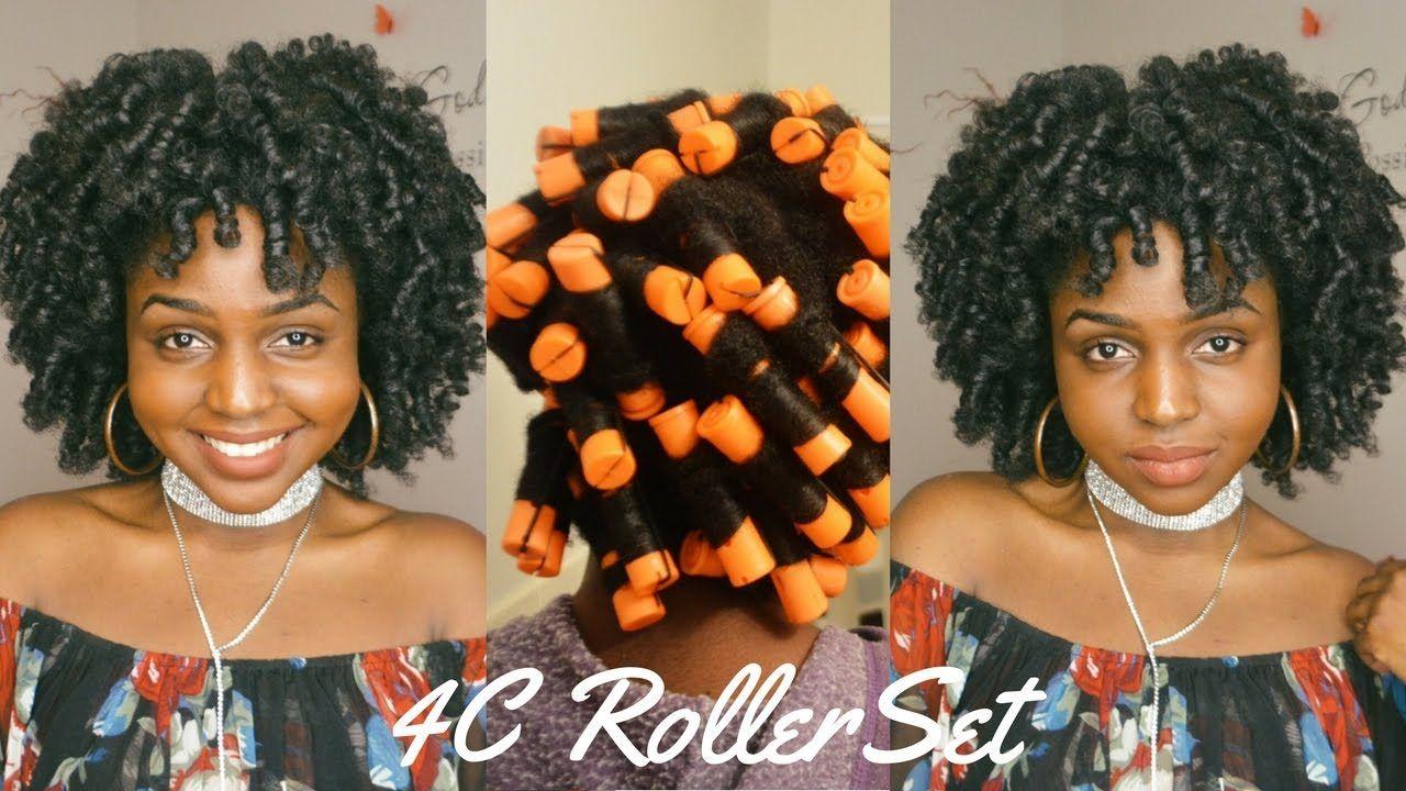 Perm rod roller set on c natural hair natural pinterest