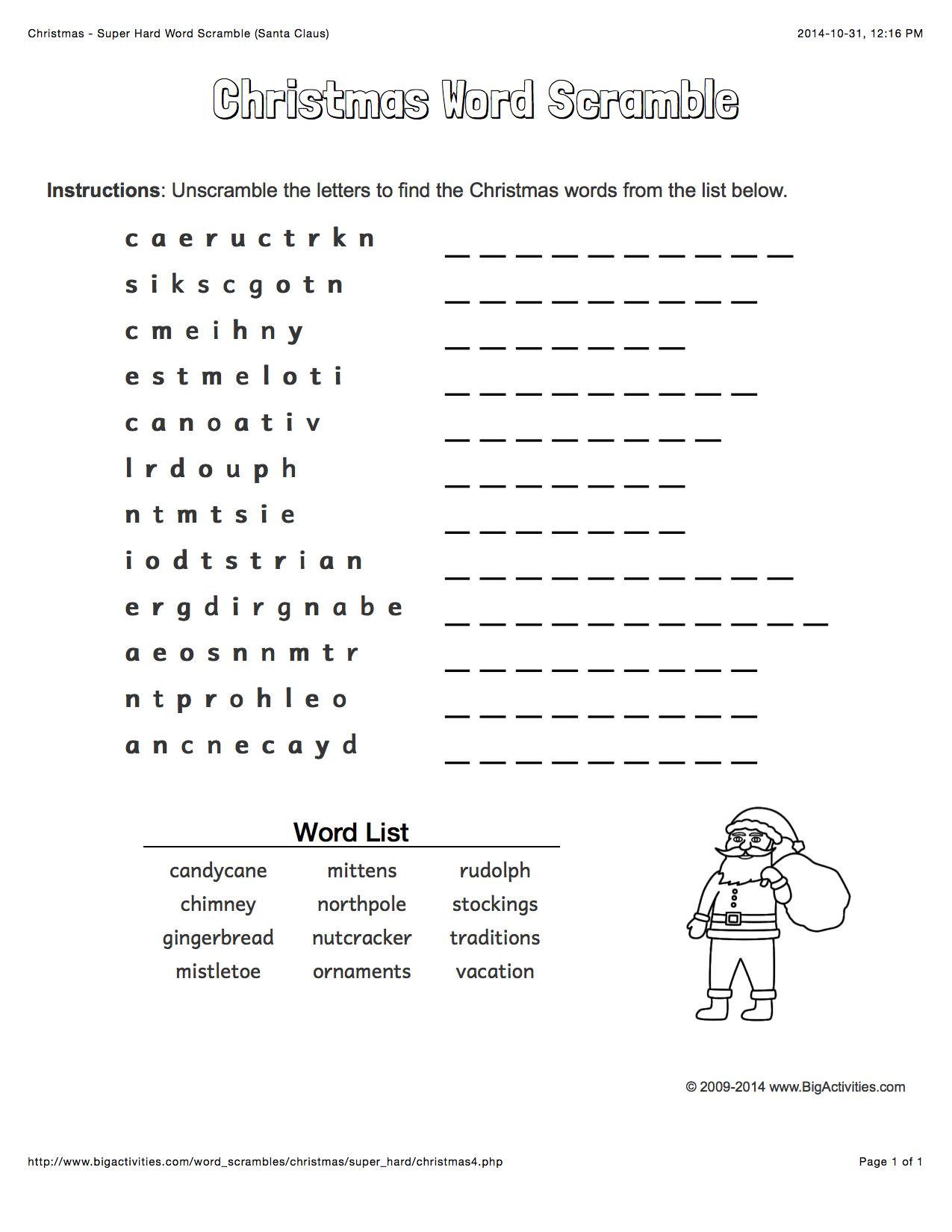 Uncategorized Hanukkah Worksheets christmas word scramble with santa claus 4 levels of difficulty hanukkah the torah scrambled words change each time you visit
