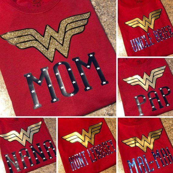 Wonder Woman Birthday Shirts Family