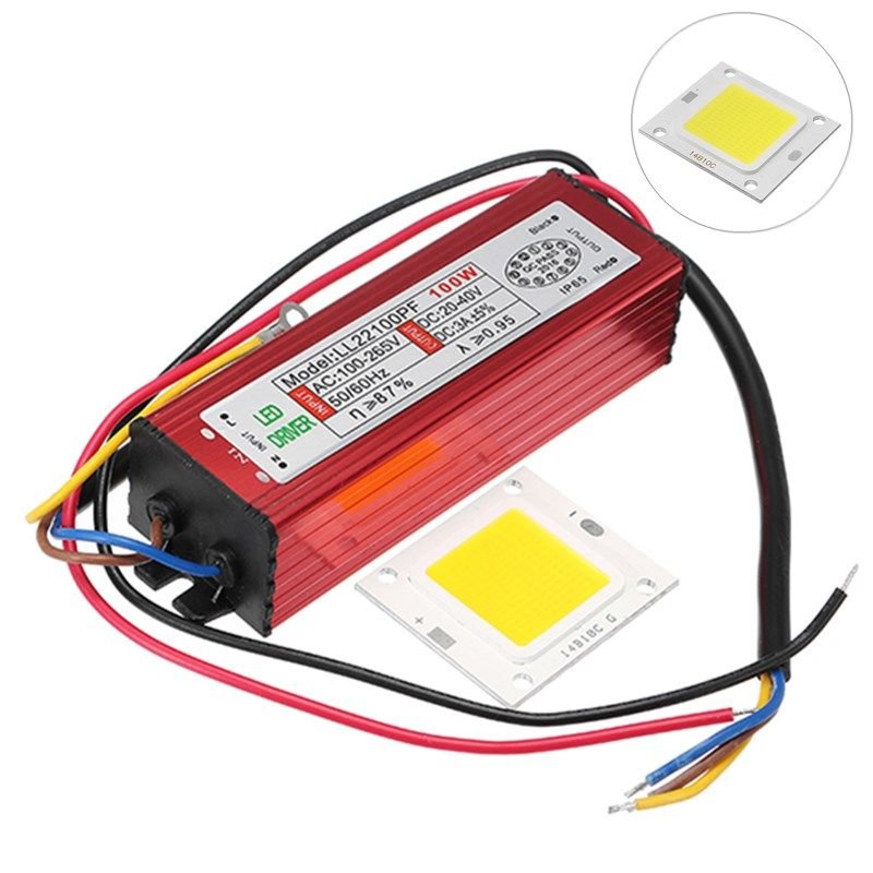 100w Constant Current High Power Light Chip With Led Driver Power Supply For Flood Light Dc20v 40v Flood Lights Constant Current Led