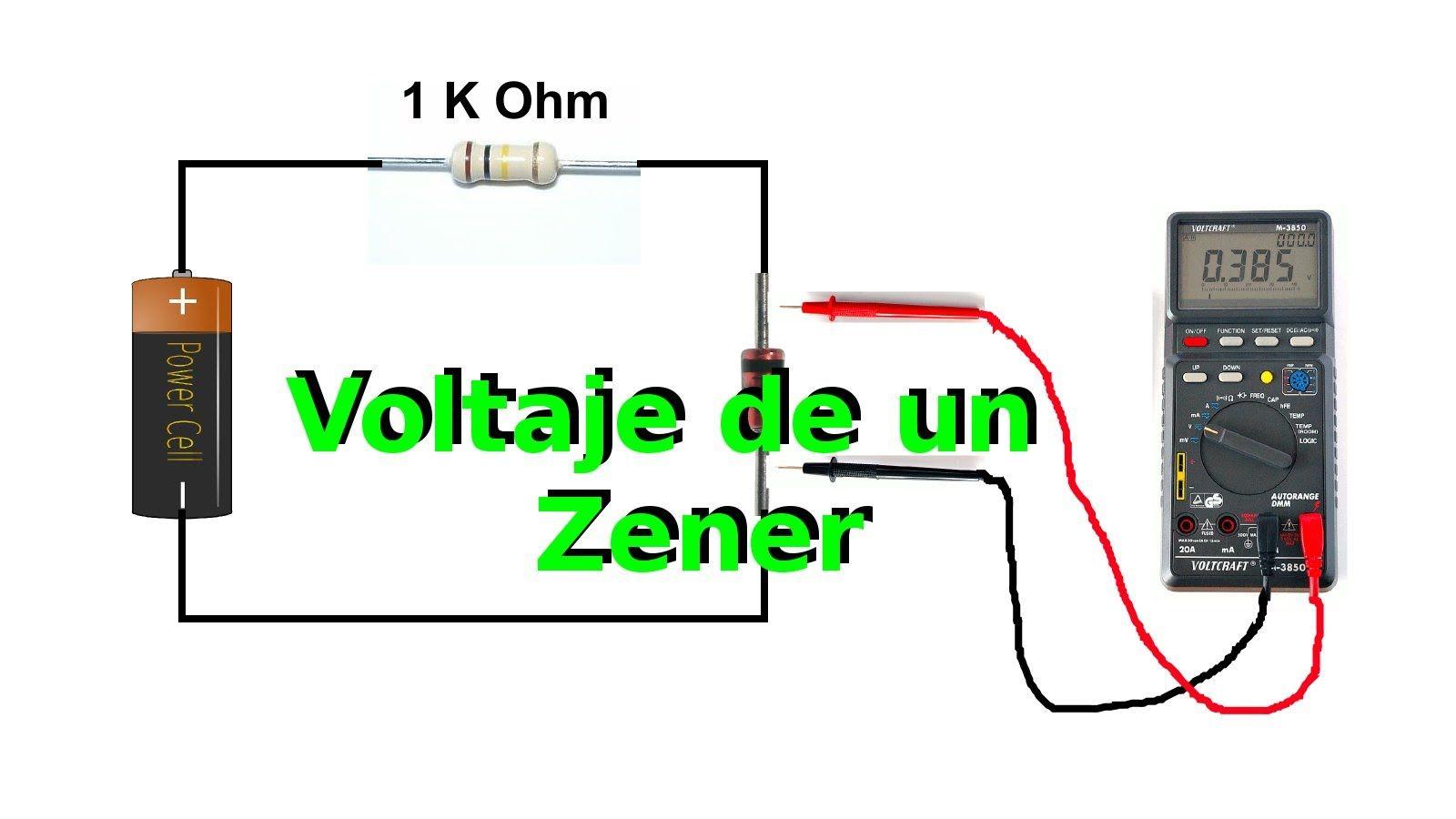Circuito Zener : Cómo medir el voltaje de un diodo zener youtube prueba de