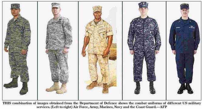 Operational Uniforms of the United States Air Force, Army, Marine Corps, Navy,