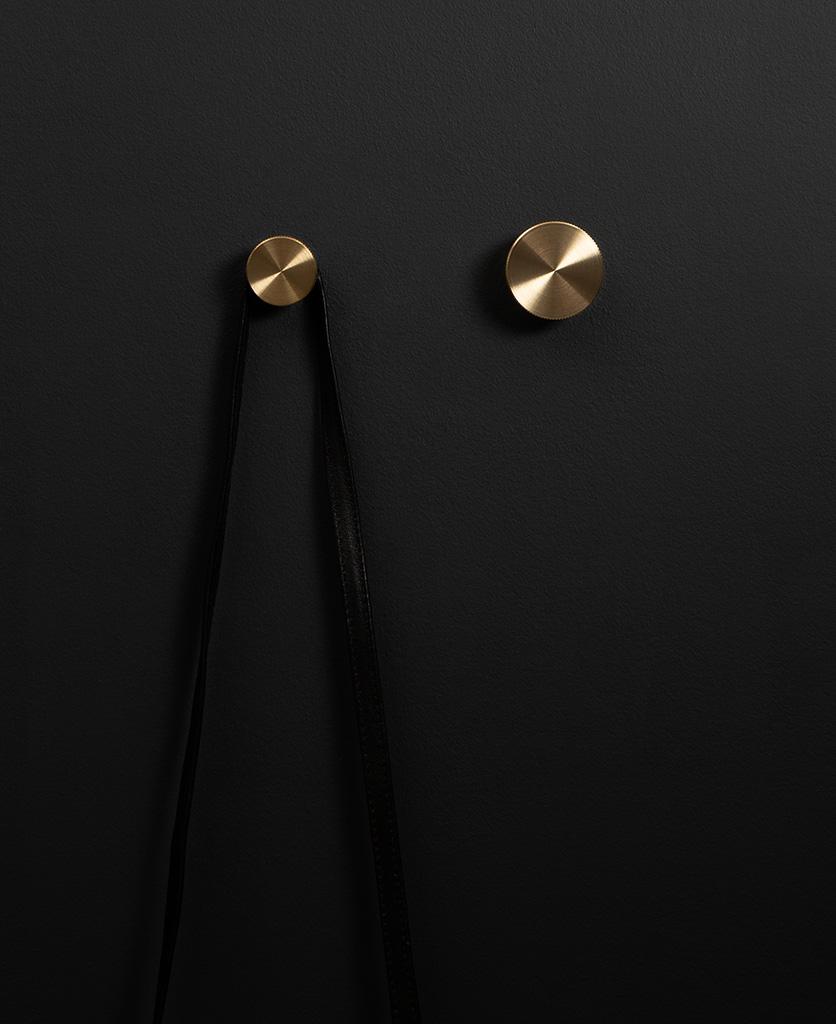 Wall Hook Modernist Available In Black Silver Brass In 2020 Wall Hooks Hardware Modernist