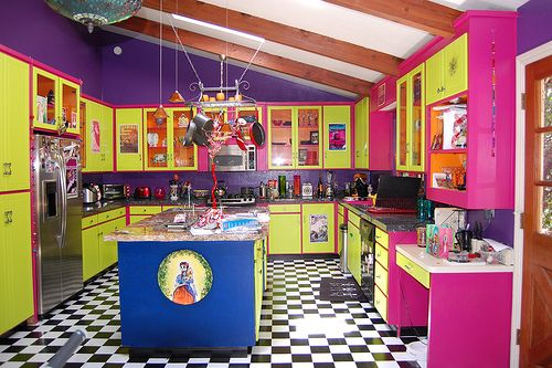 Funky Kitchens | Would Be Different For Your Kitchen? Try A Colorful Kitchen  Design .