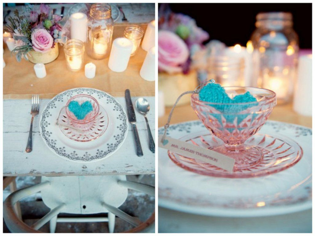 Blue themed wedding decor  vintage valentines day wedding ideas pink blue reception place
