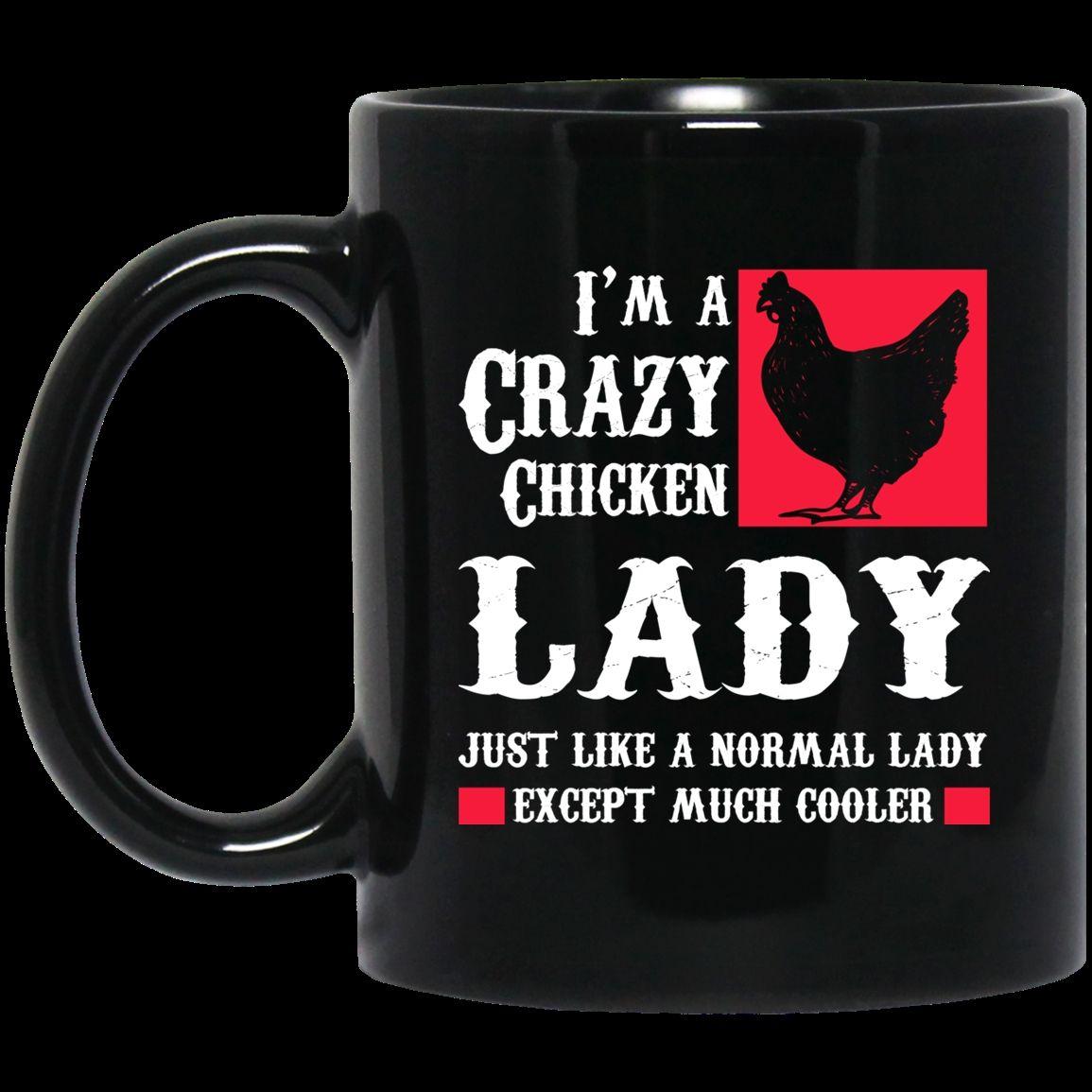 Christmas Gift Crazy Chicken Lady Coffee Mug