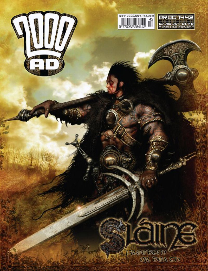 CLASSIC COVER Sláine by Clint Langley for 2000 AD Prog