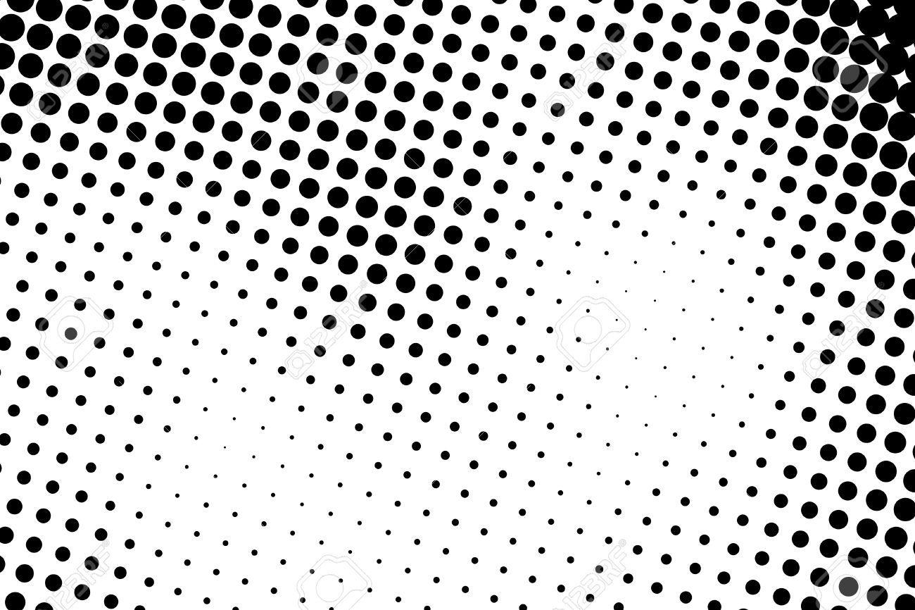 Halftone Dots. Black And White Dot Background. Black Dots