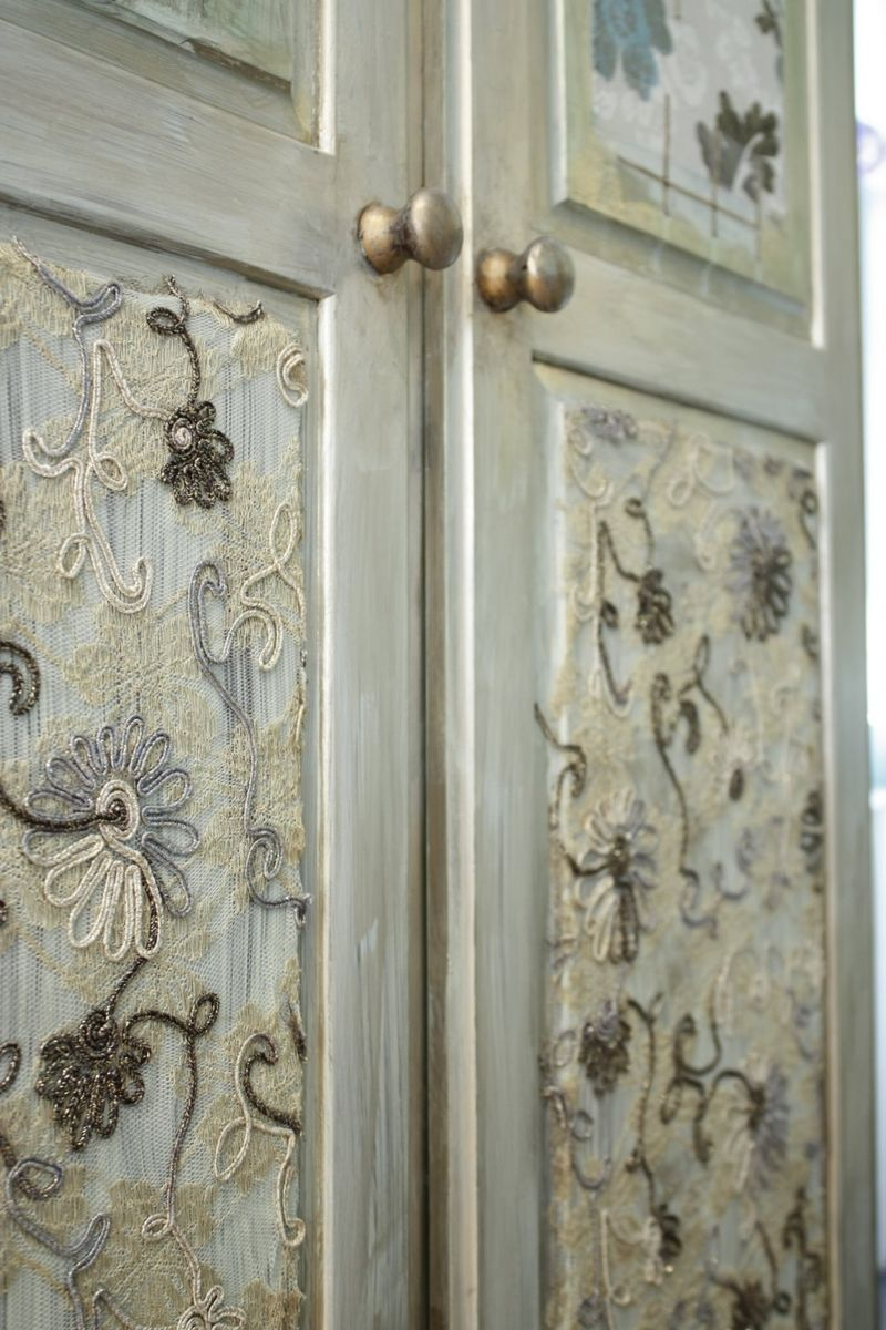 this is crewel fabric used in decoupage Perfect for your ...