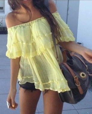 Yellow floaty top