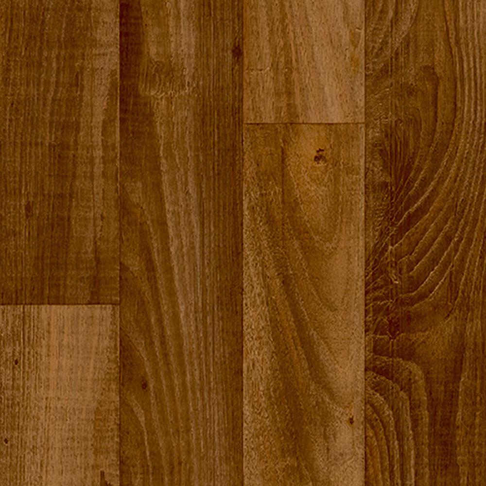 Wide X Your Choice Length Residential Vinyl Sheet Flooring Honey Oak Plank Wood Finish