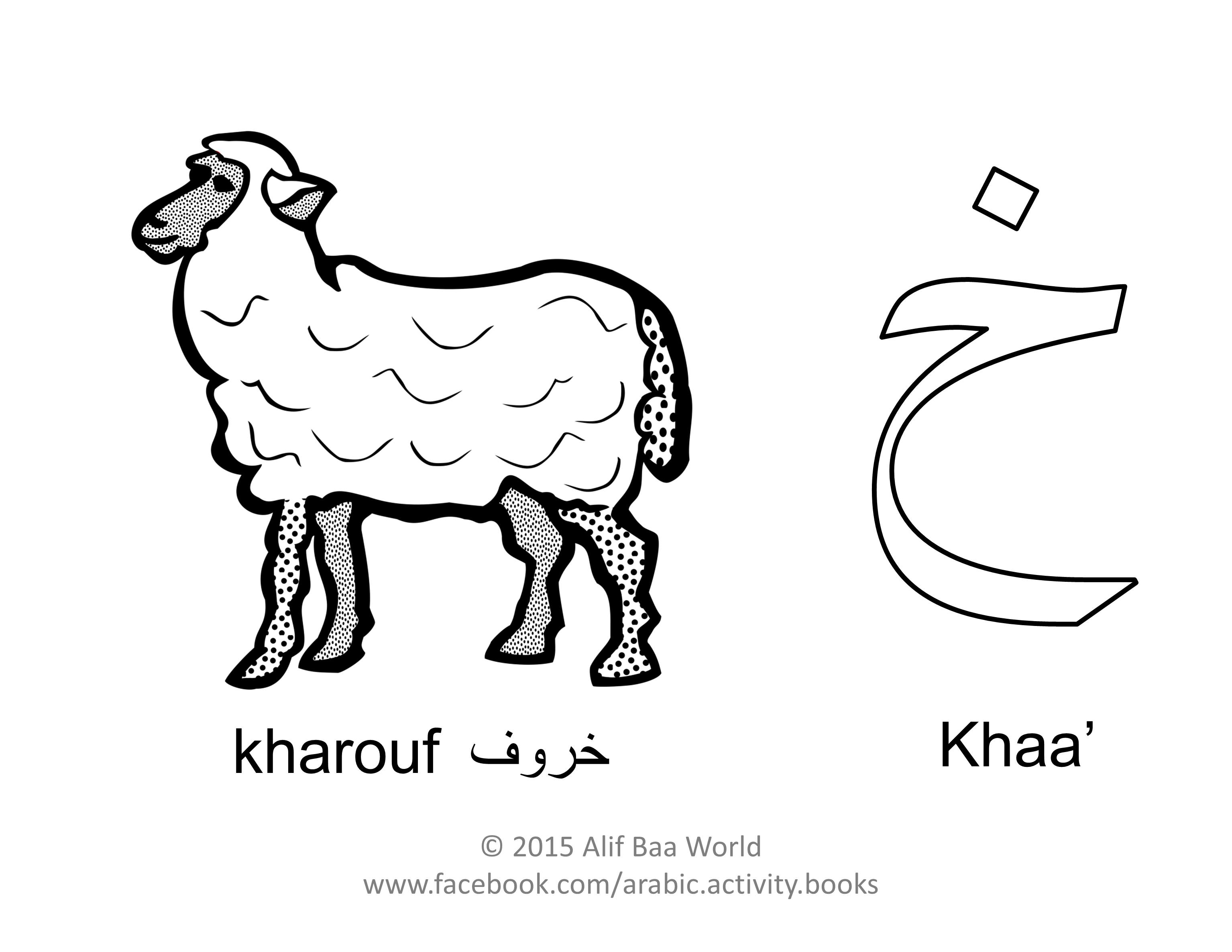 The Seventh Letter Of The Arabic Alphabet Is خ Name Khaa Sound Kh For خروف Pronounced Learn Arabic Online Learning Arabic Arabic Alphabet For Kids