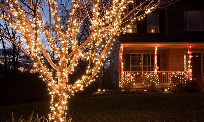 שרשרת נורות Led סולאריות Christmas Lights Outside Outdoor Christmas Outdoor Christmas Decorations