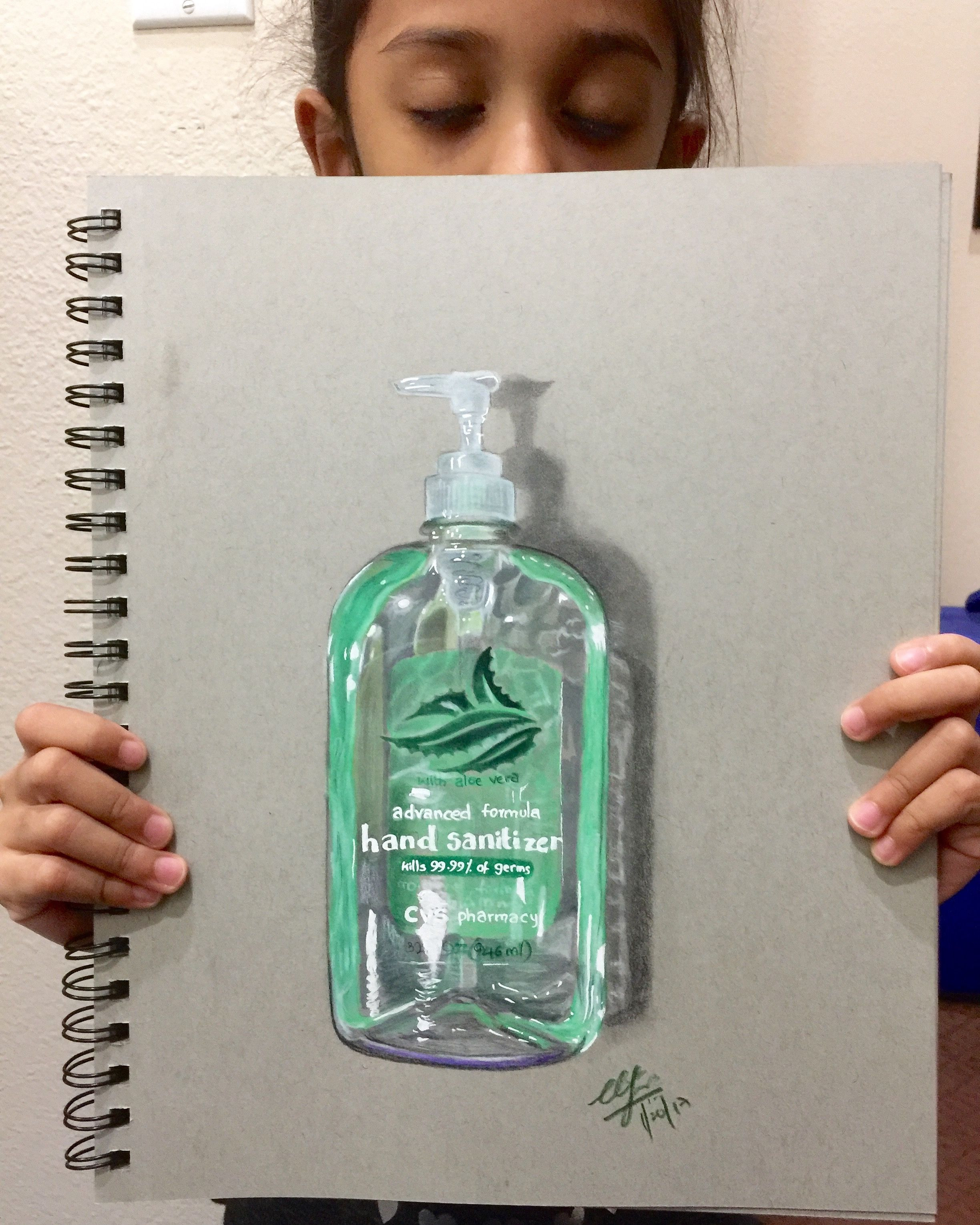 Drawing Realistic Hand Sanitizer Malen