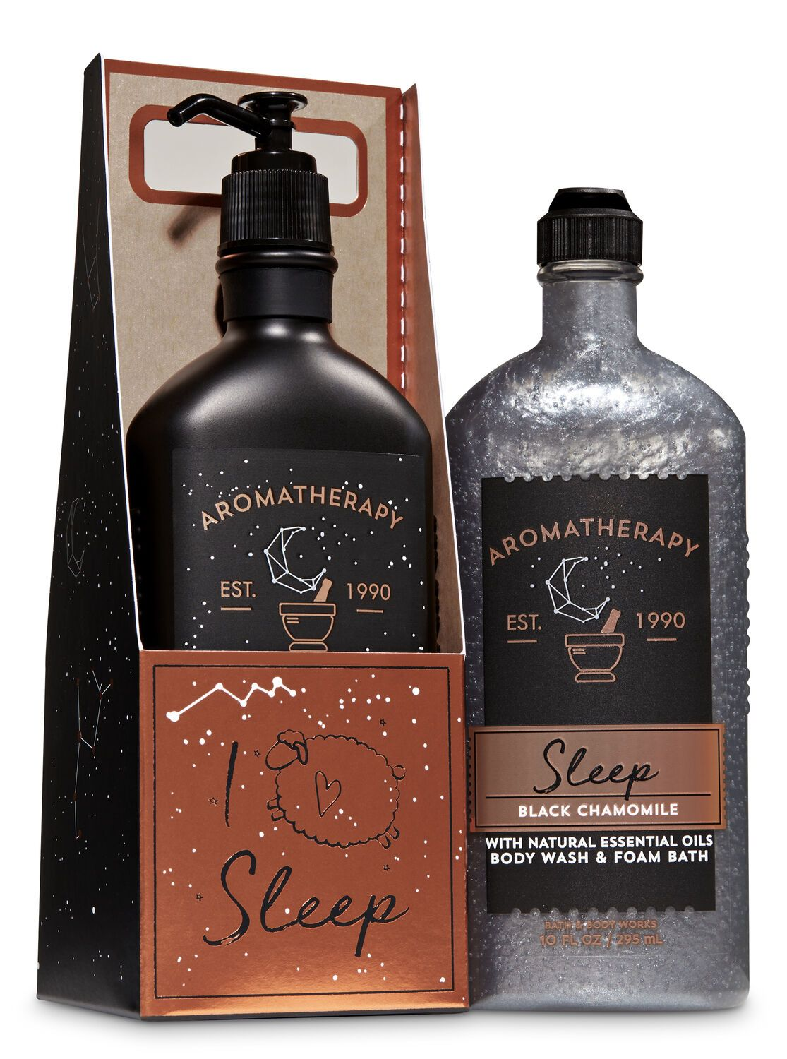 Bath Body Works Black Chamomile I Love Sleep Gift Set Bath