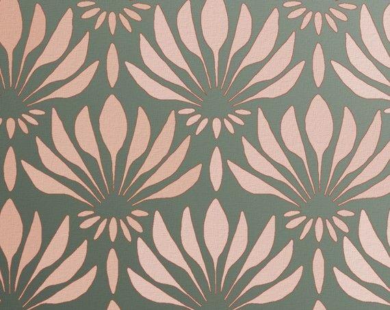 Stencil For Walls Art Deco Pattern Fan By Oliveleafstencils