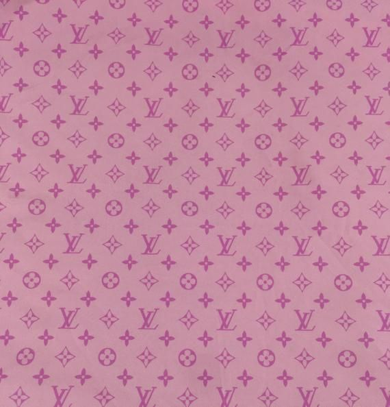 7786e371b97 LV Baby Pink Designer Inspired Fabric By the Yard or Half Yard ...