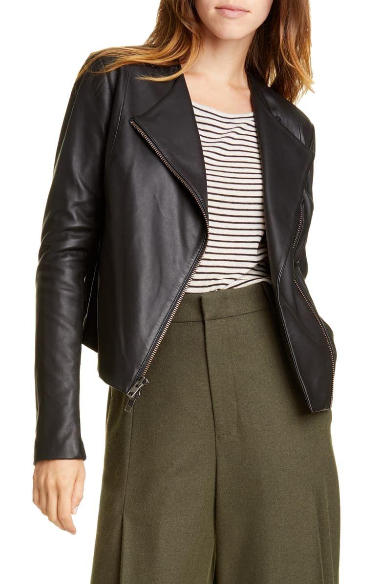Vince Rib Panel Leather Jacket Nordstrom Leather Blazer Women Leather Jackets Online Womens Fashion Jackets [ 1196 x 780 Pixel ]