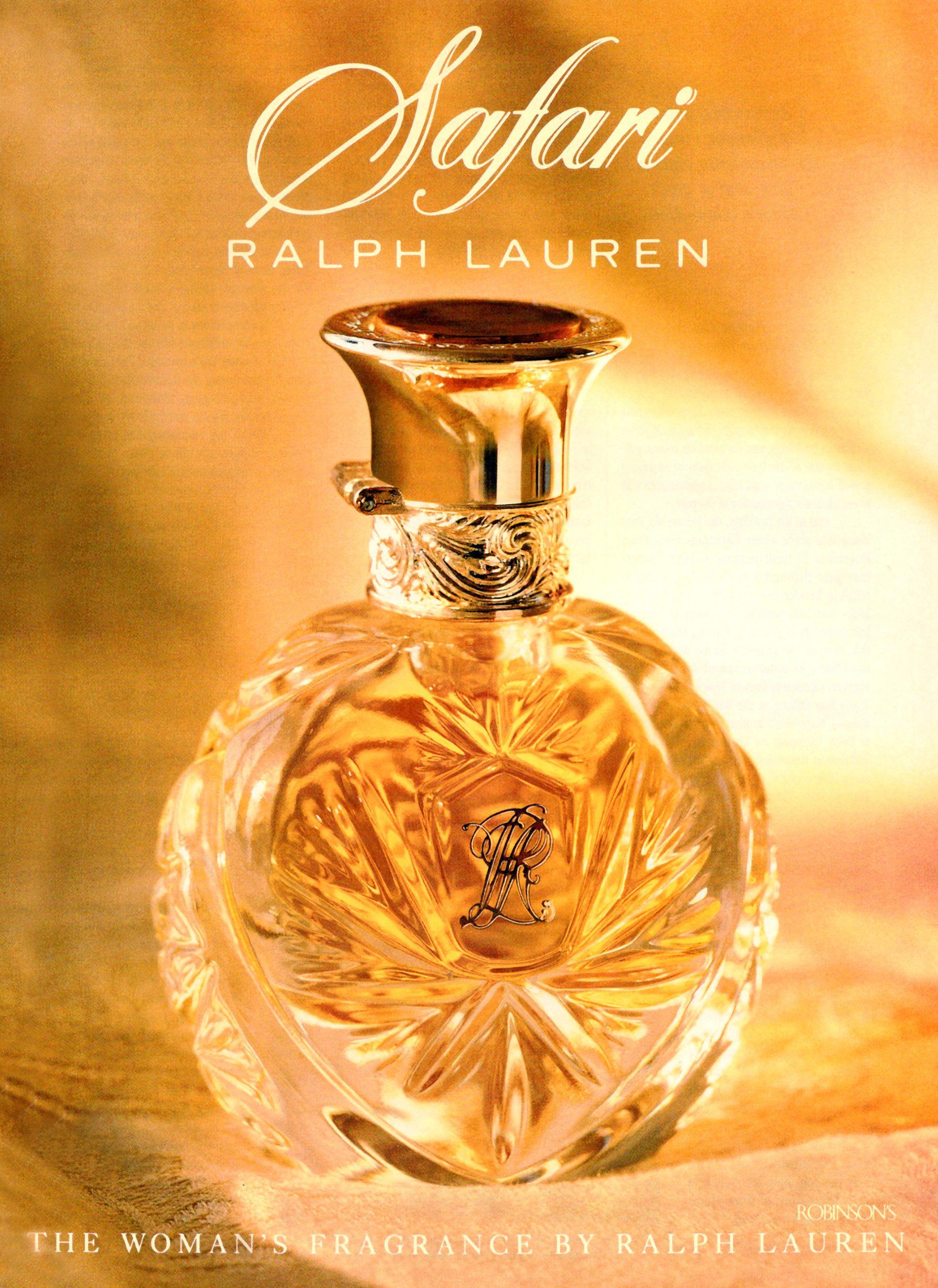 38247c2ac33b Vintage Ralph Lauren s Safari perfume ad - Circa  90- 91 ...