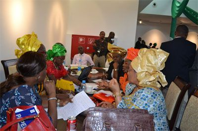 Communique drafting committee at work during the Summit